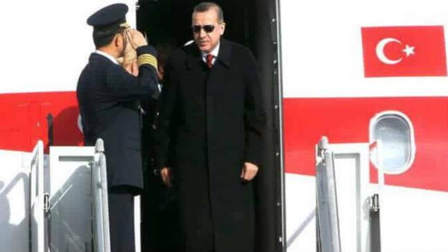 رجب طيب أردوغان يغادر أنقرة متوجها إلى هامبورج للمشاركة في قمة العشرين